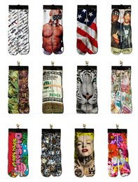 Wholesale Fashion Sport Stockings Printing Socks Adult Men s D Printed Stocking New Pattern Hip Hop Soft Cotton Sock Unisex SOX socks pairs