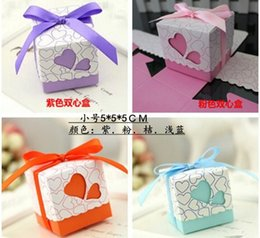 Wholesale Colorful Decor Paper Gift Candy Favours chocolate Favor Boxes Wedding Party Supplies