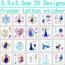 Все бесплатная доставка 1200pcs ! 5.5x5.5cm , ECO- FREINDLE ЗАМОРОЖЕННЫЕ татуировки наклейки Временные татуировки наклейки