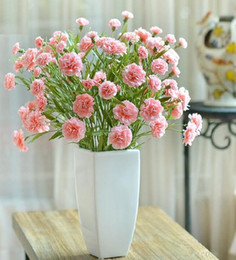 Artificial Carnations Artificial Silk Flower Real Touch Carnation Mother S Gift Home Deco Happy Mother S Day Realcarnation Nylon Flower