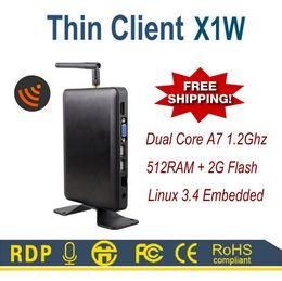 Linux WIFI Тонкий клиент ПК X1W Все Победитель A20 HDMI VGA 512M RAM Linux 3.4 Встроенный протокол RDP 7.0