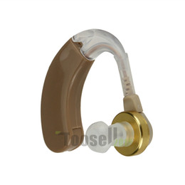 Wholesale A Pair of Digital Hearing Aids Kit Adjustable F Audiphones Audiphone Behind Ear Deaf Sound