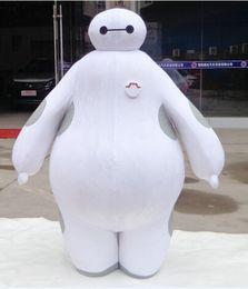 Wholesale 100 real images suit Big Hero Baymax Mascot Costume Cartoon Adult Size Big Hero mascot EMS