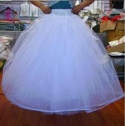 Wholesale Beautiful New Bridal Gown Petticoat Wedding Accessories Underskirt A Lined For Dress And Gowns With Hoop