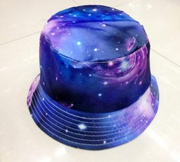 Wholesale Galaxy Print Polyester Bucket Hat For Women Summer Outdoor Sut Caps
