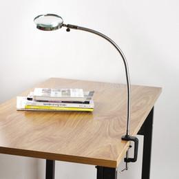 Wholesale Lamp Magnifier Flexible Neck Magnifying Desk Table Clamp Plastic Folders Metal Horse X mm Lens Loupe Repair Magnifier
