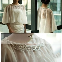 Wholesale 2015 Chiffon Applique Beads Bridal Shawl Summer Shade Bolero Wedding Jacket For Wedding Bridal Accessories High Quality Custom Made Wraps