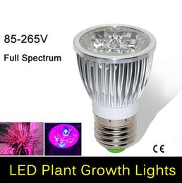 Discount Full Spectrum Led Light Bulbs | 2017 Full Spectrum Led ...:Full spectrum LED Grow lights 10W E27 LED Grow lamp bulb for Flower plant  Hydroponics system AC 85V 110V 265V grow box full spectrum led light bulbs  outlet,Lighting