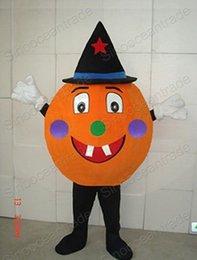 Wholesale Hot selling Adult cute MR PUMPKIN mascot costume fancy Christmas cartoon party costume