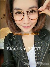 women new vintage small round frame plain eyeglassesthin metal frames fashion reading glassbrand de oculosclear lens glasses
