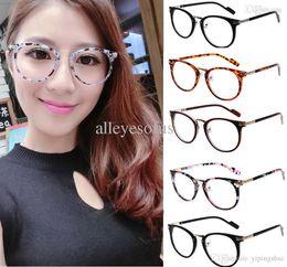 2015 fashion eyeglasses frames womens utra light circle frame glasses frame with lens round glass vintage eye glasses black inexpensive circle eyeglass