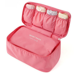 Wholesale Hot Selling Fashion Oxford Portable Women Travel Bra Underwear Lingerie Organizer Bag Girls Cosmetic Makeup Toiletry Wash Storage Case