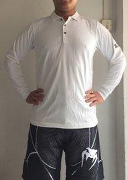 Wholesale S M L XL XXL Man Long sleeve casual shirt golf fitness outdoor sports polo T shirt