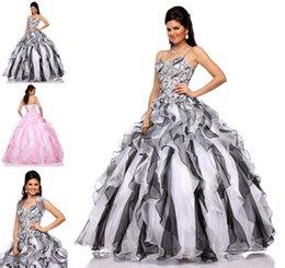 Wholesale 2015 Nueva Colección de Vestidos de Quinceañera Con Chaqueta de Correas Espaguetis con Volantes de Organza Vestido de fiesta Encaje Vestido de gala Vestidos de Debutante