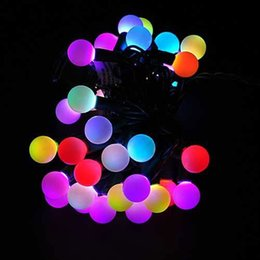 Wholesale Free Shipping Dropship 1 Pics Multi Color Changing LED RGB Ball  String Christmas Xmas Lights Belt Light For Indoor And Outdoor D Discount  Outdoor ...
