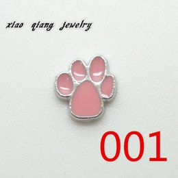 Wholesale new floating charm Bear caught for glass locket Origami floating lockets Digital Selective