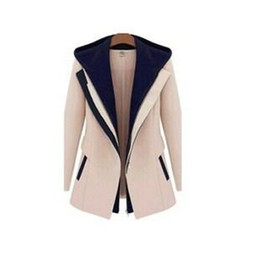 Wholesale 2015 Spring Winter Fashion Street Jackets Women Slim Faux Two Piece With a Hood Casaco Patchwork Blazer Casual Female Coats