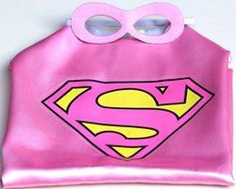 Wholesale 20pcs Superhero cape CAPE MASK cm back Super Hero Costume for Children Halloween Party Costumes for Kids Children s Costume