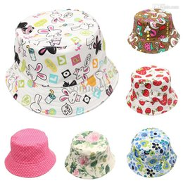 Wholesale 2015 Summer Unisex Kid Bucket hat Photography Hat Kids Sun Hat Floral CapsTravel Necessity for Boys Girls Children Drop Shipping
