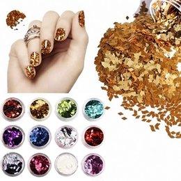 Wholesale 2015 Moda colores de uñas Lentejuelas Forma Arte de acrílico D Rombo Glitter Nail decoración DIY M01213 orden Nadie seguimiento