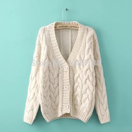 Wholesale 2014 NEW Winter Cardigans sweater for casual women with soft thick cotton wool cardigan sweater top Clothing