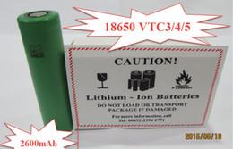Batterie lithium de haute qualité VTC3 / VTC4 / VTC5 18650 batterie, batterie li-ion 18650 batterie pour toutes sortes de e cigs Meilleure qualité