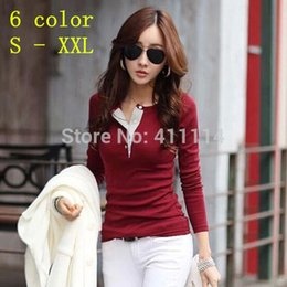 Wholesale 2015 autumn girls long sleeve t shirt women blouse ladies thin flower female basic tops plus size S XXL cotton tee t shirt WAQIA
