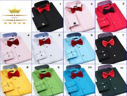Wholesale New Brand Design Groom Shirts Mens Shirts Free Cuff Links High quality Casual Slim Fit Stylish Dress Shirts Man DK MT6557