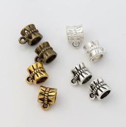 400pcs / lot 9.6x7.1mm 4colors Antique Argent / Bronze / or papillon Connecteurs Bails Perles Fit Charm Bracelet européenne L692