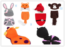 Wholesale Children S Clothing Baby Boy Clothes Baby Infant Newborn Animal Knit Costume Photography Prop Crochet Beanie Hat Cap Photography Prop