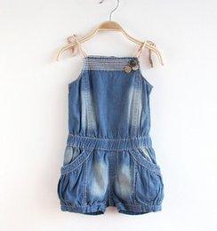 Ropa de los niños tirantes de mezclilla pantalones pieza pantalones de mezclilla niño niños # 039; s ropa 3-8years Fit