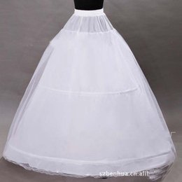 Wholesale 2015 White Bridal Petticoats For Ball Gowns Hoops Crinoline Underskirts Organza Sheer Lace Edge High Quality Wedding Accessories