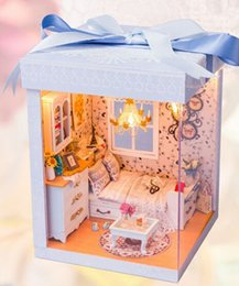 2017 dollhouse furniture for kids wholesale free shipping creative wooden doll house with furniture affordable dollhouse furniture