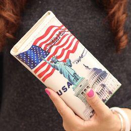 Wholesale-Hot Sale Lady Purses Women Wallets Paris Eiffel Tower Pattern  Brand Handbags Coin Purse Cards ID Holder Money Bags