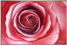 Wholesale Smiling Pink Rose oil painting SC77 pure hand painted