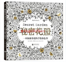 Wholesale New Box Secret Garden An Inky Treasure Hunt and Coloring Book For Children Adult Relieve Stress Kill Time Graffiti Painting Drawing Book