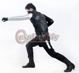 Wholesale Custom made America Movie Captain America The Winter Soldier James Buchanan Barnes Bucky Outfit Cosplay Costume