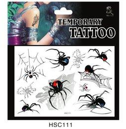 Wholesale popular sexy body tattoo sticker D temporary tattoo spider tattoo stickers tattoo stickers Body Art body tattoo