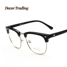 wholesale retro high fashion plain glasses metal frame eyeglass for men trendy all matching mens glasses no degree mens sunglasses