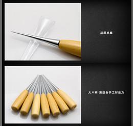 Wholesale Les outils à main bricolage populaires outils de ménage simple et pratique avancée mèche à bois poignée de poinçon en bois du poinçon de perforation