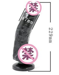 Wholesale 9 Inch Big Black Realistic Dildo Large penis Water Spray Strong Suction Cup Female Masturbation