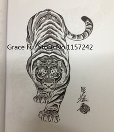 Wholesale A4 size Japanese tattoo book Horimouja Jack Mosher book tiger hawks snakes Tatouage