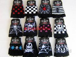 Wholesale New Sale Pair Skull nightmare before Christmas Fingerless gloves Children s Christmas gift