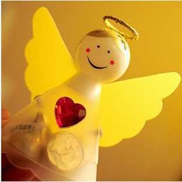 Wholesale DIY wedding Favor Holders Angel wings candy box Christmas gift box red heart angel DIY sugar box DIY gift box baby birthday favor holders