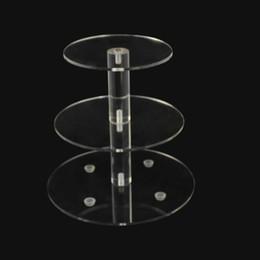 Christmas 3 Tier Cristal Círculo Claro Acrylic Cupcake Stand Casamento High Tea Decor Display CST
