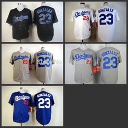 2015 Оптовые дешевые женщин Лос-Анджелес Плут Мужчины женщин '23 Adrian Gonzalez Прохладный базы синий серый белый бейсбол Jerseys Бесплатная доставка