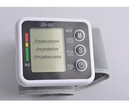 Wholesale 2pcs Clearance Sale Portable Home Digital Wrist Blood Pressure Monitor Heart Beat Meter With Lcd