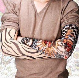 149 Styles Mix Nylon extérieur antisolaires Sport Stretchy autocollant temporaire manches Tattoo Fashion Leg Arm Bas Pour Hommes Femmes