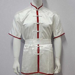 Wholesale Chinese Traditional Martial Arts Performance Cloth Kung Fu Uniform Wushu Short Sleeves Suits For Kids And Adults