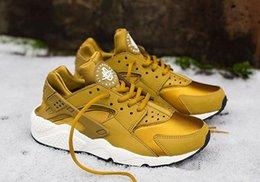 Gold Black Men s Air Huarache Mens Sneakers Breathable Running Shoe Huaraches Sports Huaraches With Original Box online